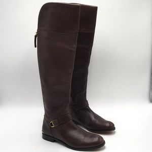 Coach Madeleine Brown Leather Knee High Boots